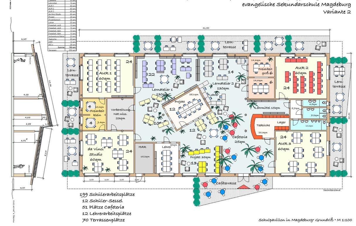 Neubau einer Sekundarschule in Magdeburg   Schulideen